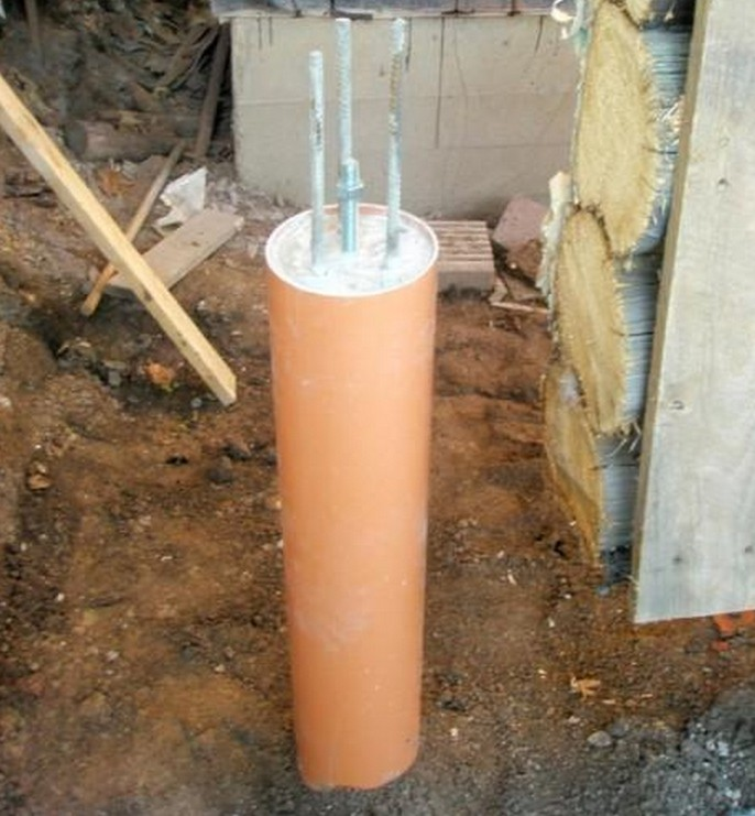 Фундамент из пластиковых труб своими руками